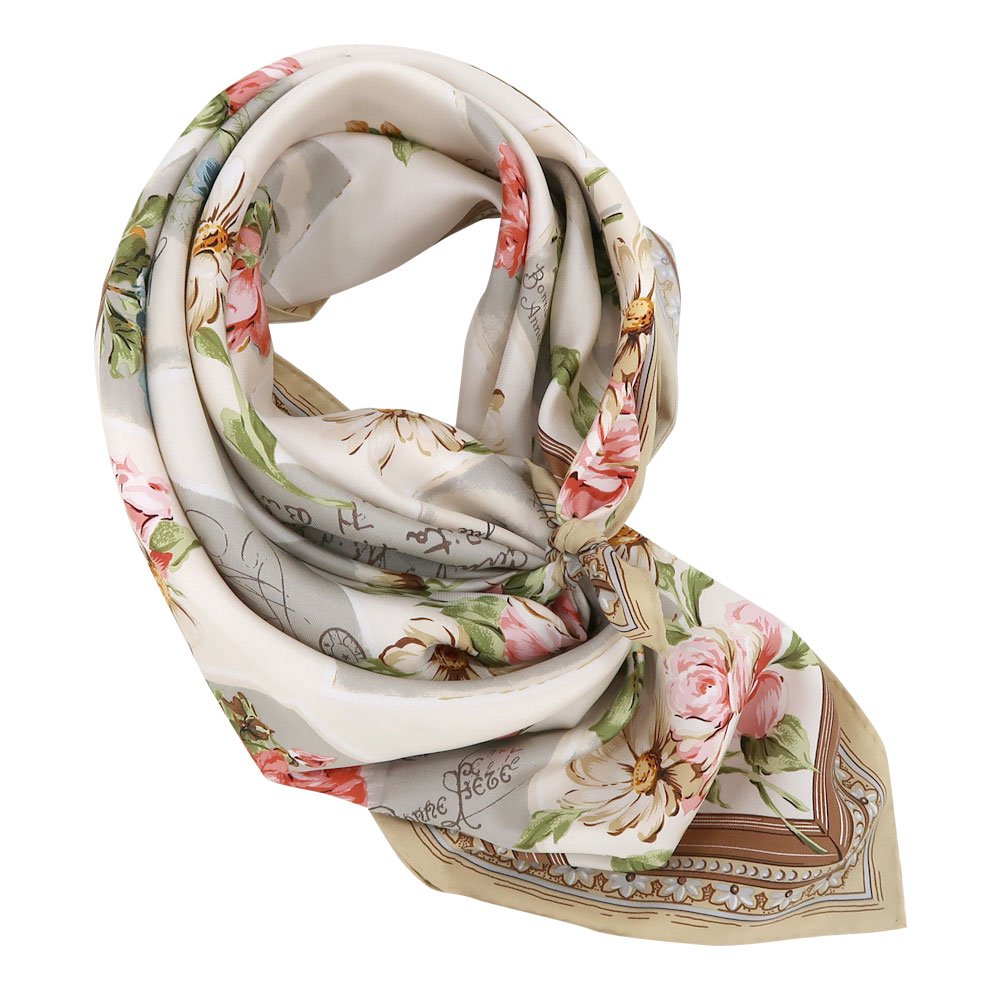 薔薇カード (CM7-026) Marcaオリジナル 大判 シルクツイル スカーフの画像1