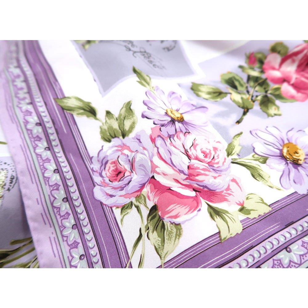 薔薇カード (CM7-026) Marcaオリジナル 大判 シルクツイル スカーフの画像10