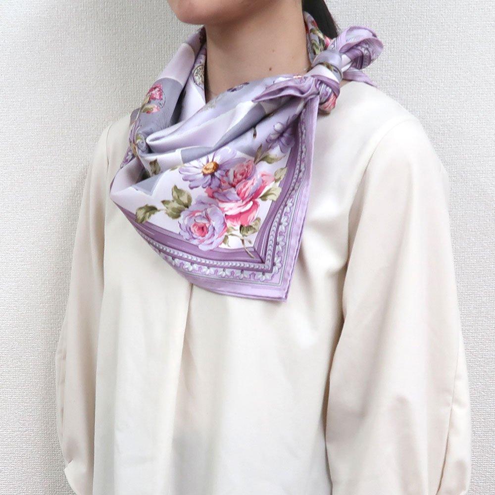 薔薇カード (CM7-026) Marcaオリジナル 大判 シルクツイル スカーフの画像12