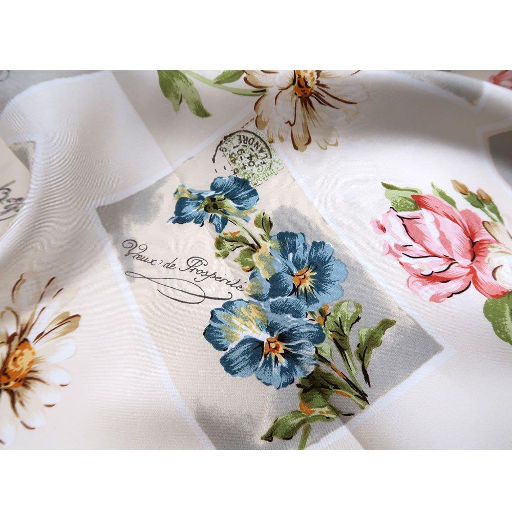 薔薇カード (CM7-026) Marcaオリジナル 大判 シルクツイル スカーフの画像2