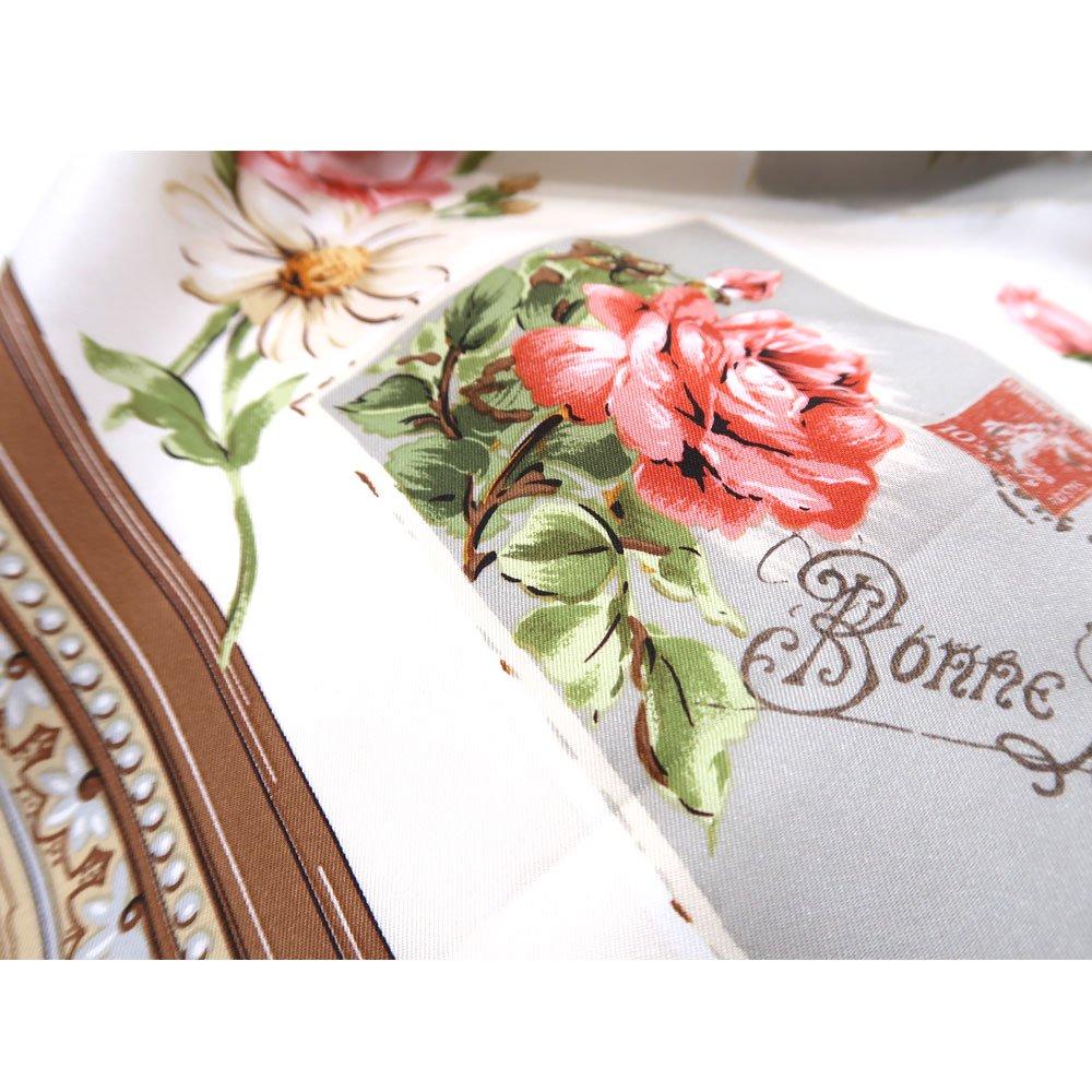薔薇カード (CM7-026) Marcaオリジナル 大判 シルクツイル スカーフの画像3