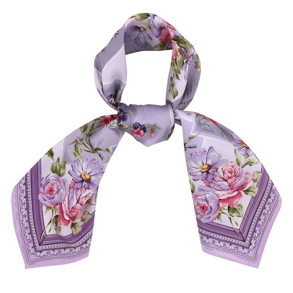 薔薇カード (CM7-026) Marcaオリジナル 大判 シルクツイル スカーフの画像7