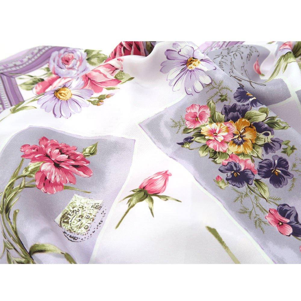 薔薇カード (CM7-026) Marcaオリジナル 大判 シルクツイル スカーフの画像9