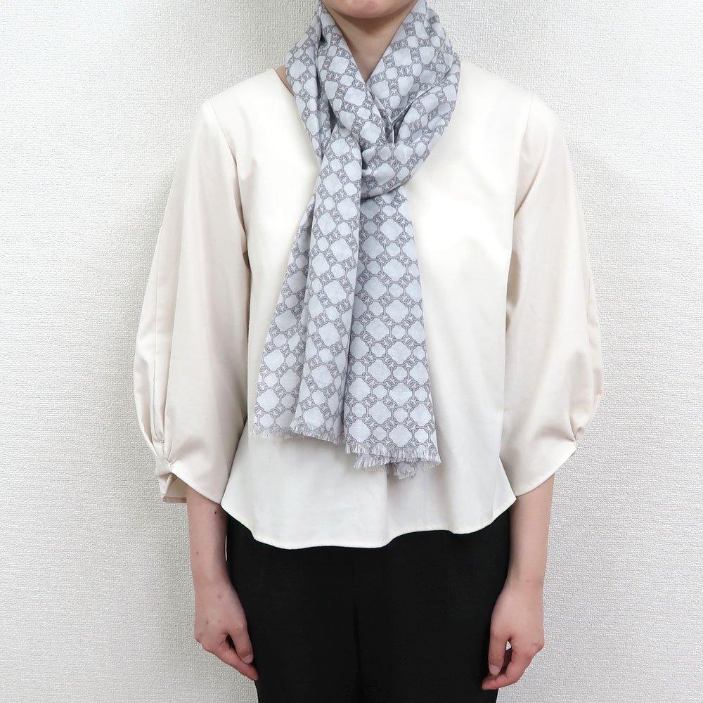 ビット柄 (NEP-106) Marcaオリジナル 大判 綿レーヨン ストールの画像3