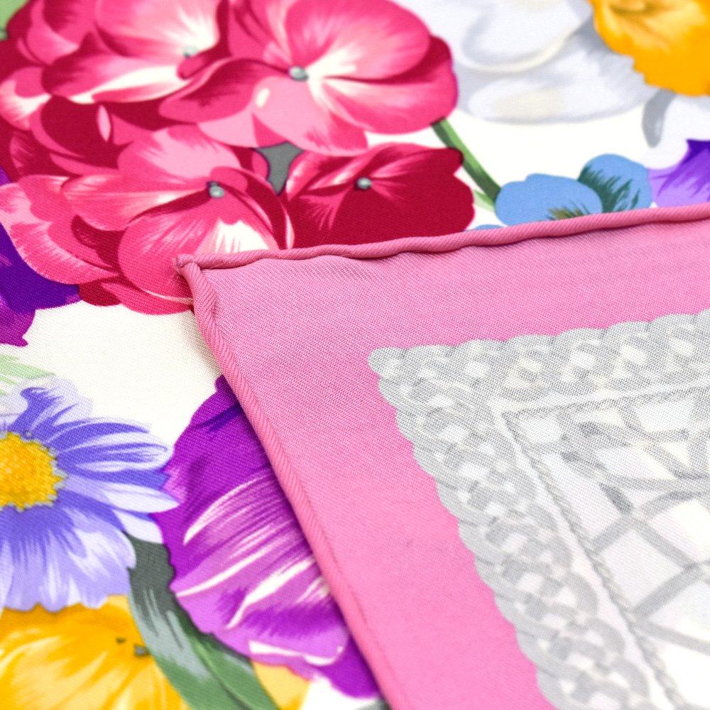 田園の花(CM6-818) 伝統横濱スカーフ 大判 シルクツイル スカーフの画像14
