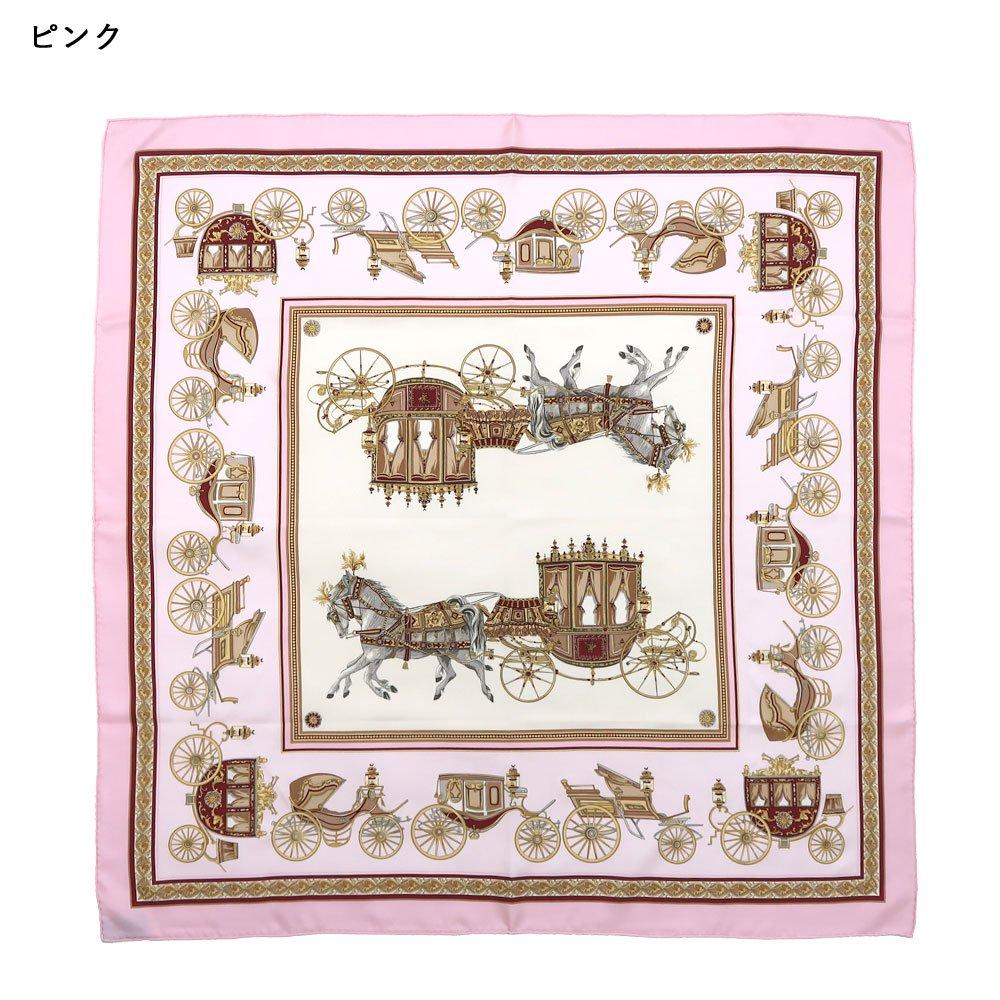 馬車行列(CM5-438K) 伝統横濱スカーフ 大判 シルクツイル スカーフの画像2
