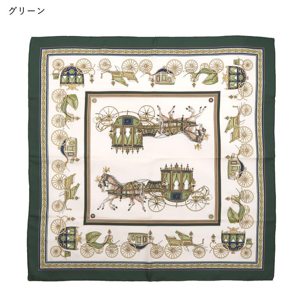 馬車行列(CM5-438K) 伝統横濱スカーフ 大判 シルクツイル スカーフの画像8