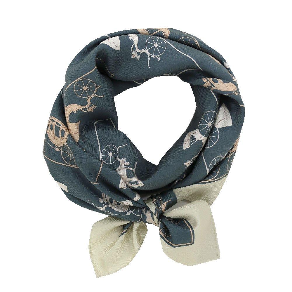 馬車道 (CEE-018K) 伝統横濱スカーフ 大判 シルクツイル スカーフの画像3