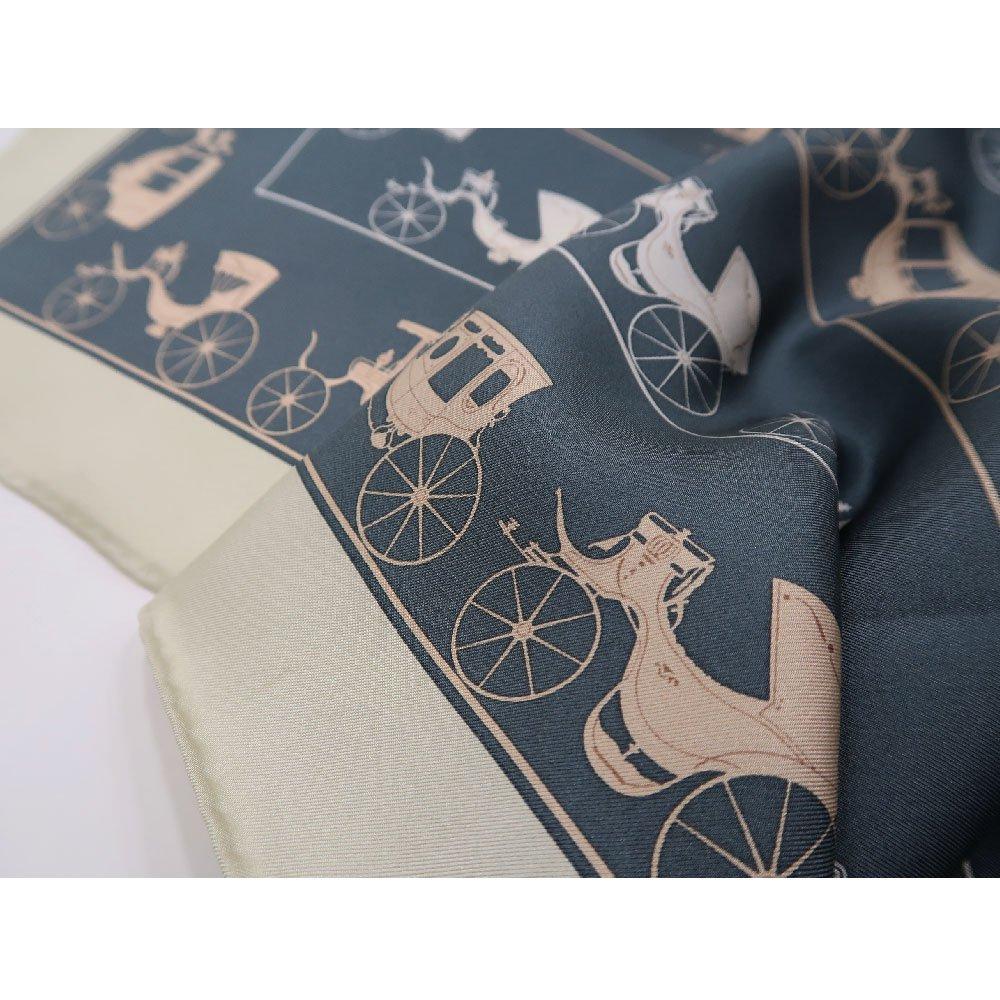 馬車道 (CEE-018K) 伝統横濱スカーフ 大判 シルクツイル スカーフの画像5
