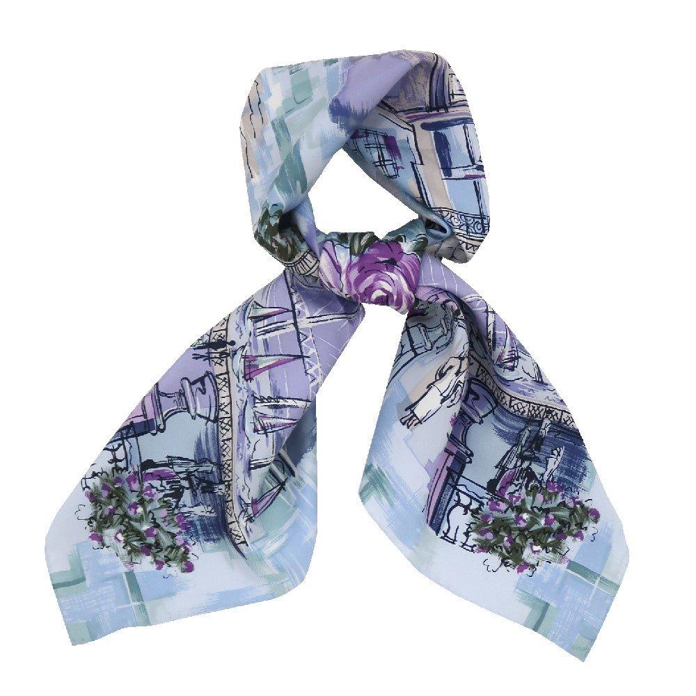 リゾートランド (CMD-364K) 伝統横濱スカーフ 大判 シルクツイル スカーフ (WEB限定)