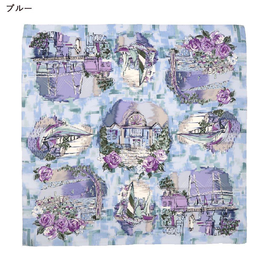 リゾートランド (CMD-364K) 伝統横濱スカーフ 大判 シルクツイル スカーフ (WEB限定)の画像2