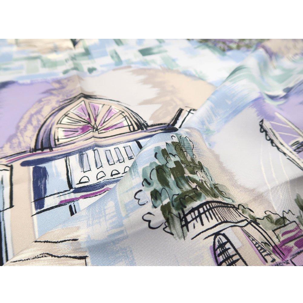 リゾートランド (CMD-364K) 伝統横濱スカーフ 大判 シルクツイル スカーフ (WEB限定)の画像4