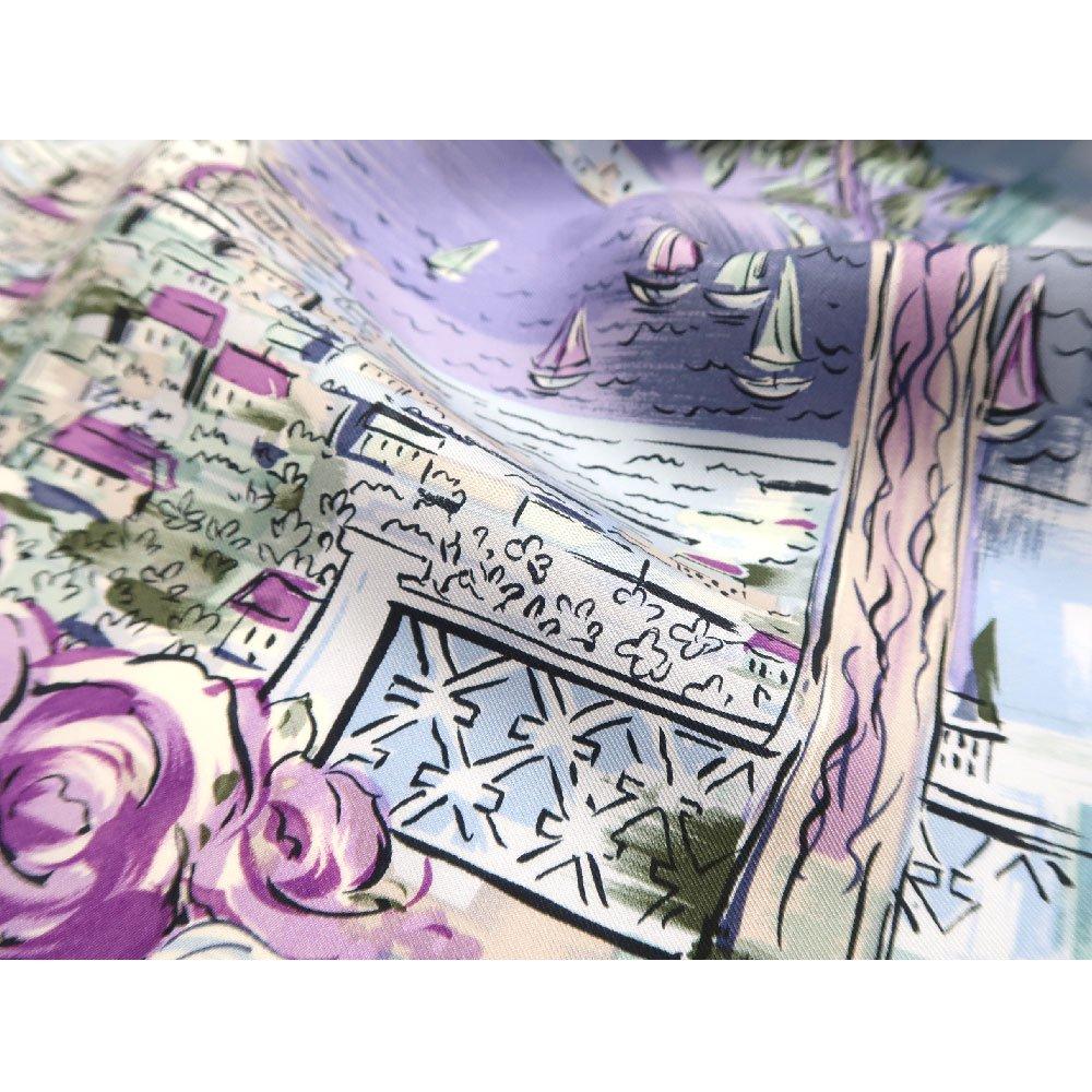 リゾートランド (CMD-364K) 伝統横濱スカーフ 大判 シルクツイル スカーフ (WEB限定)の画像5