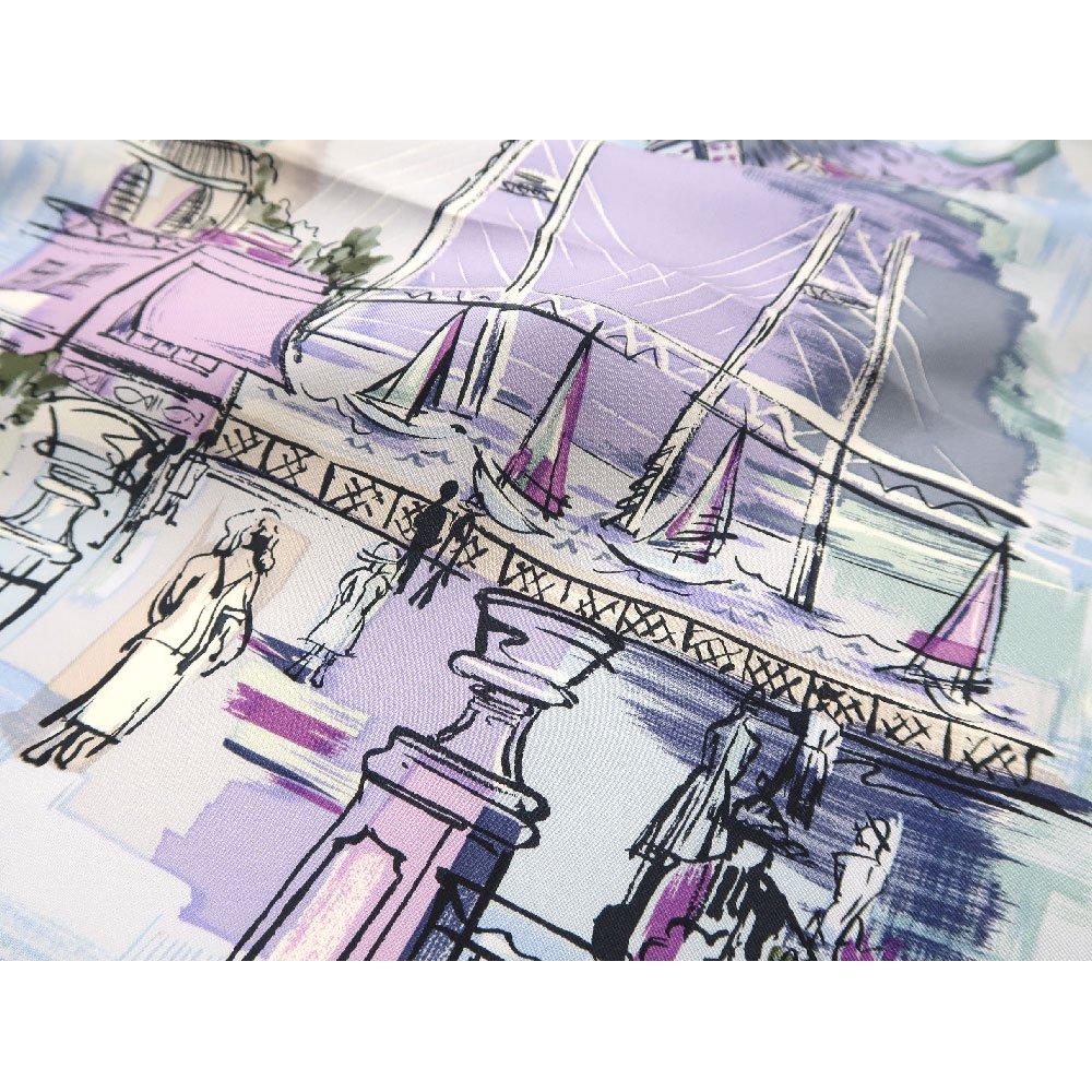 リゾートランド (CMD-364K) 伝統横濱スカーフ 大判 シルクツイル スカーフ (WEB限定)の画像6