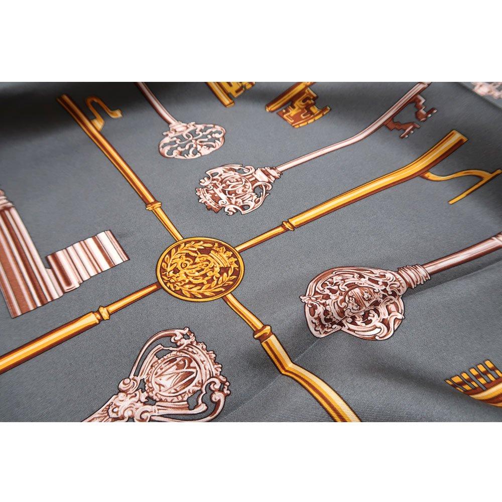ディスプレイキー (CE0-502K) Marcaオリジナル 大判 シルクツイル スカーフの画像2