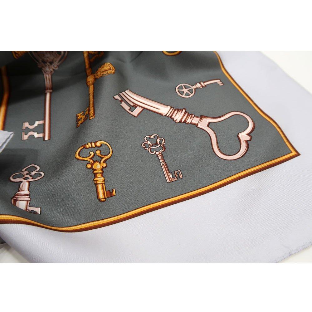 ディスプレイキー (CE0-502K) Marcaオリジナル 大判 シルクツイル スカーフの画像3