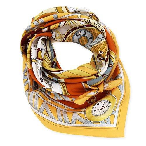 ポケットウォッチ(CM7-007K) Marcaオリジナル 大判 シルクツイル スカーフ