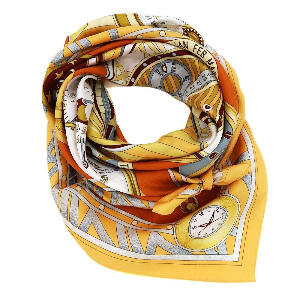 ポケットウォッチ(CM7-007K) Marcaオリジナル 大判 シルクツイル スカーフの画像1