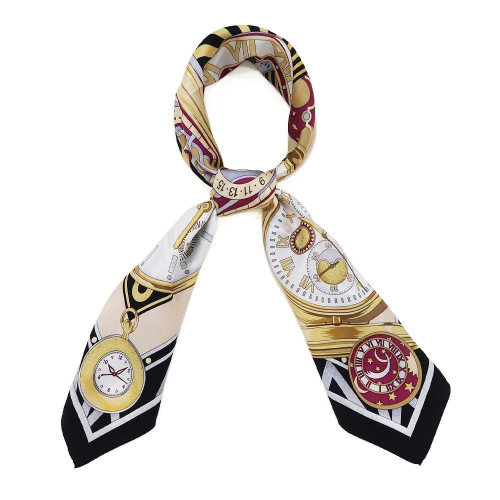 ポケットウォッチ(CM7-007K) Marcaオリジナル 大判 シルクツイル スカーフの画像10