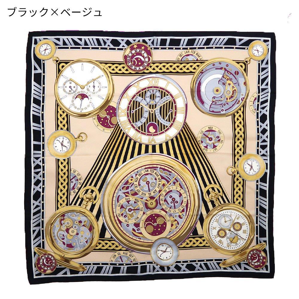 ポケットウォッチ(CM7-007K) Marcaオリジナル 大判 シルクツイル スカーフの画像11