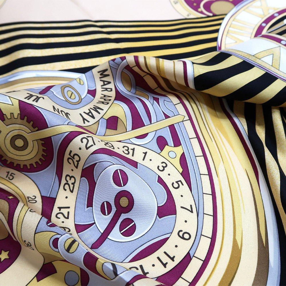 ポケットウォッチ(CM7-007K) Marcaオリジナル 大判 シルクツイル スカーフの画像12