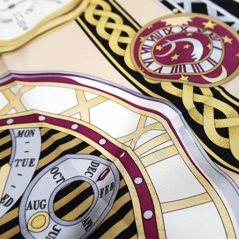 ポケットウォッチ(CM7-007K) Marcaオリジナル 大判 シルクツイル スカーフの画像13