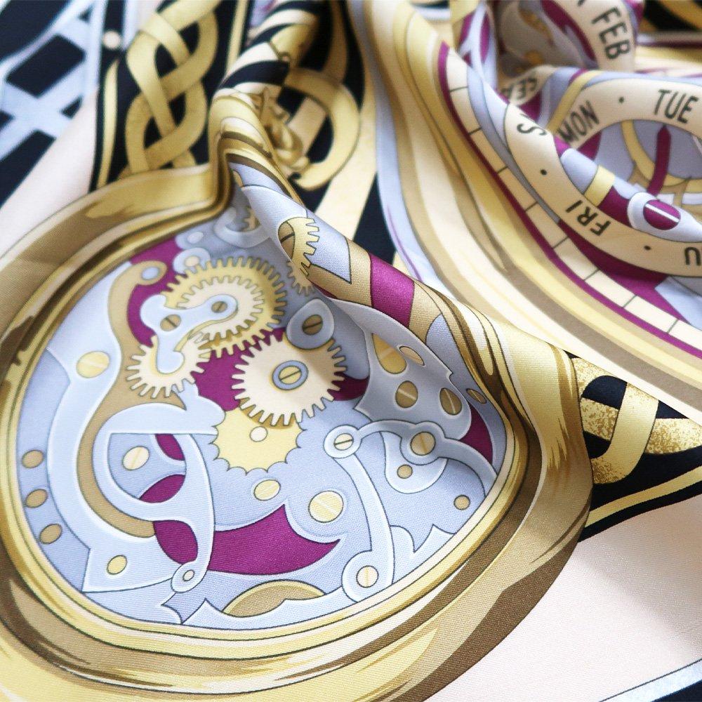 ポケットウォッチ(CM7-007K) Marcaオリジナル 大判 シルクツイル スカーフの画像14