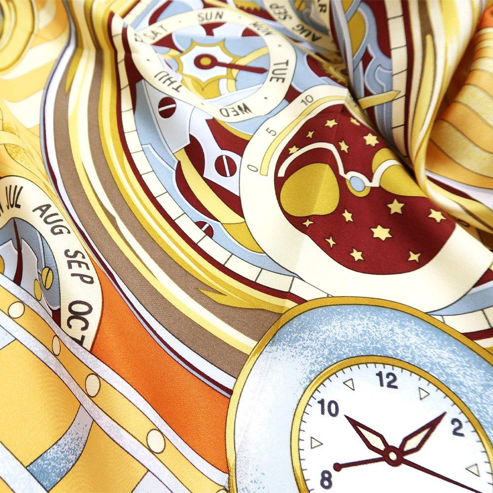 ポケットウォッチ(CM7-007K) Marcaオリジナル 大判 シルクツイル スカーフの画像3