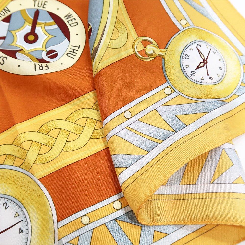 ポケットウォッチ(CM7-007K) Marcaオリジナル 大判 シルクツイル スカーフの画像4