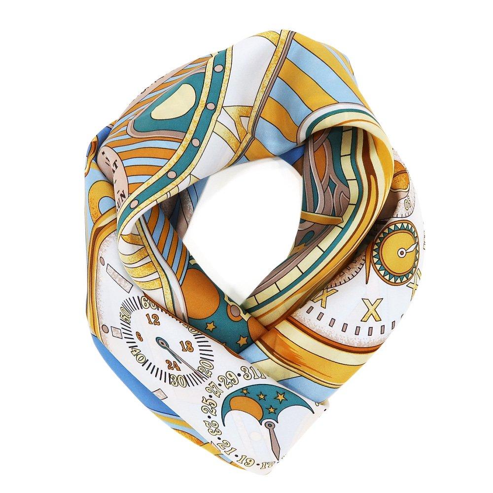 ポケットウォッチ(CM7-007K) Marcaオリジナル 大判 シルクツイル スカーフの画像6