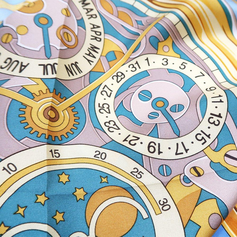 ポケットウォッチ(CM7-007K) Marcaオリジナル 大判 シルクツイル スカーフの画像7