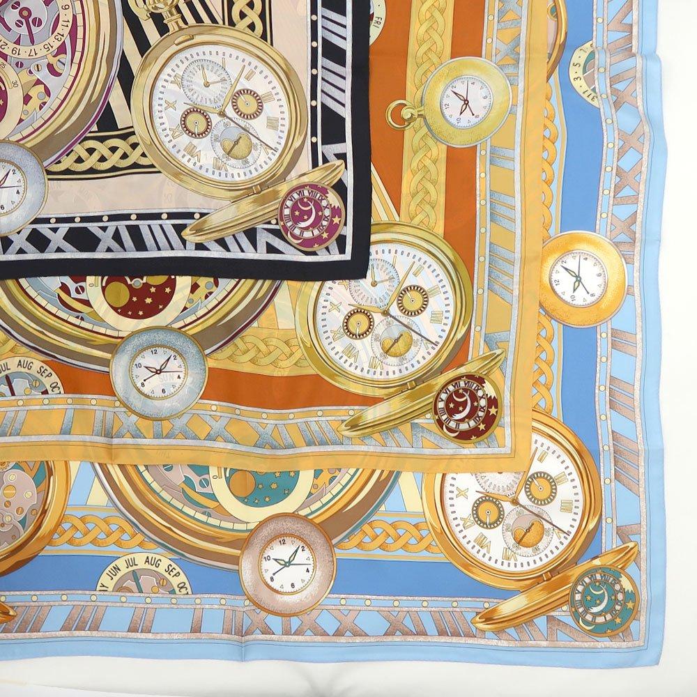 ポケットウォッチ(CM7-007K) Marcaオリジナル 大判 シルクツイル スカーフの画像9