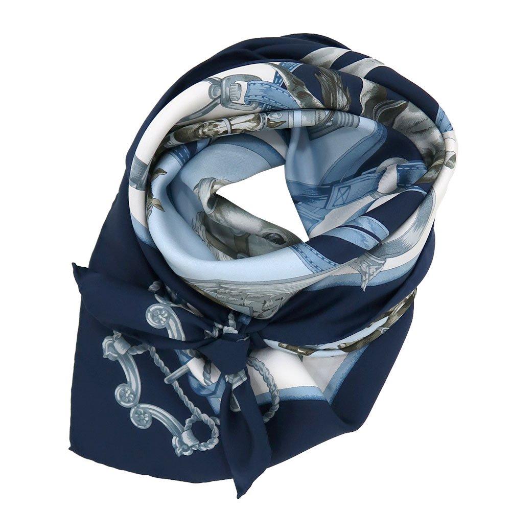 HORSE (CM9-340Y) 伝統横濱スカーフ 大判 シルクツイル スカーフの画像1