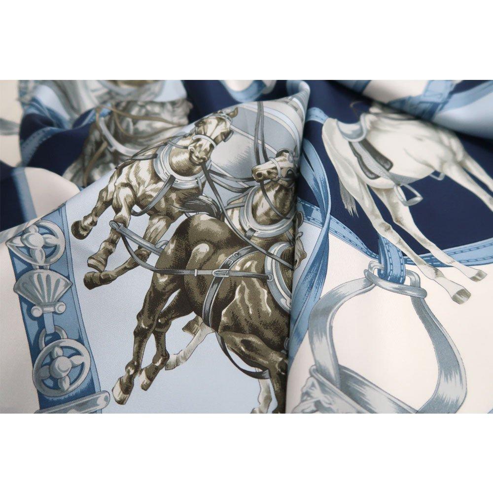 HORSE (CM9-340Y) 伝統横濱スカーフ 大判 シルクツイル スカーフの画像4
