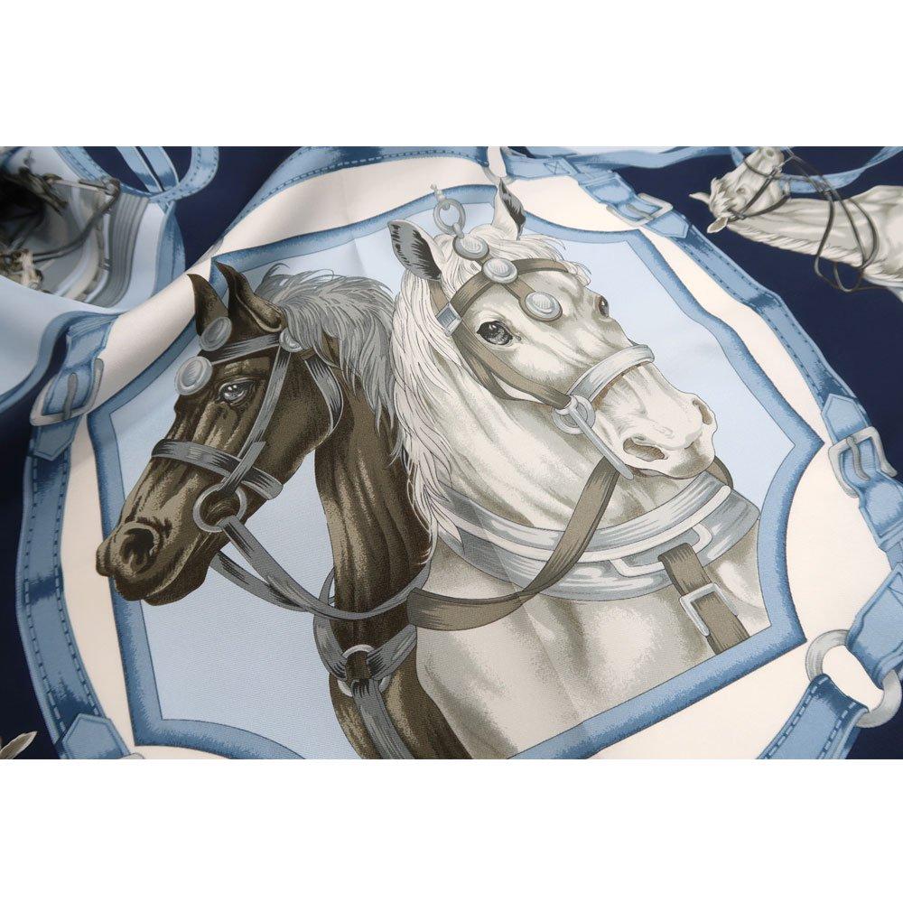 HORSE (CM9-340Y) 伝統横濱スカーフ 大判 シルクツイル スカーフの画像5