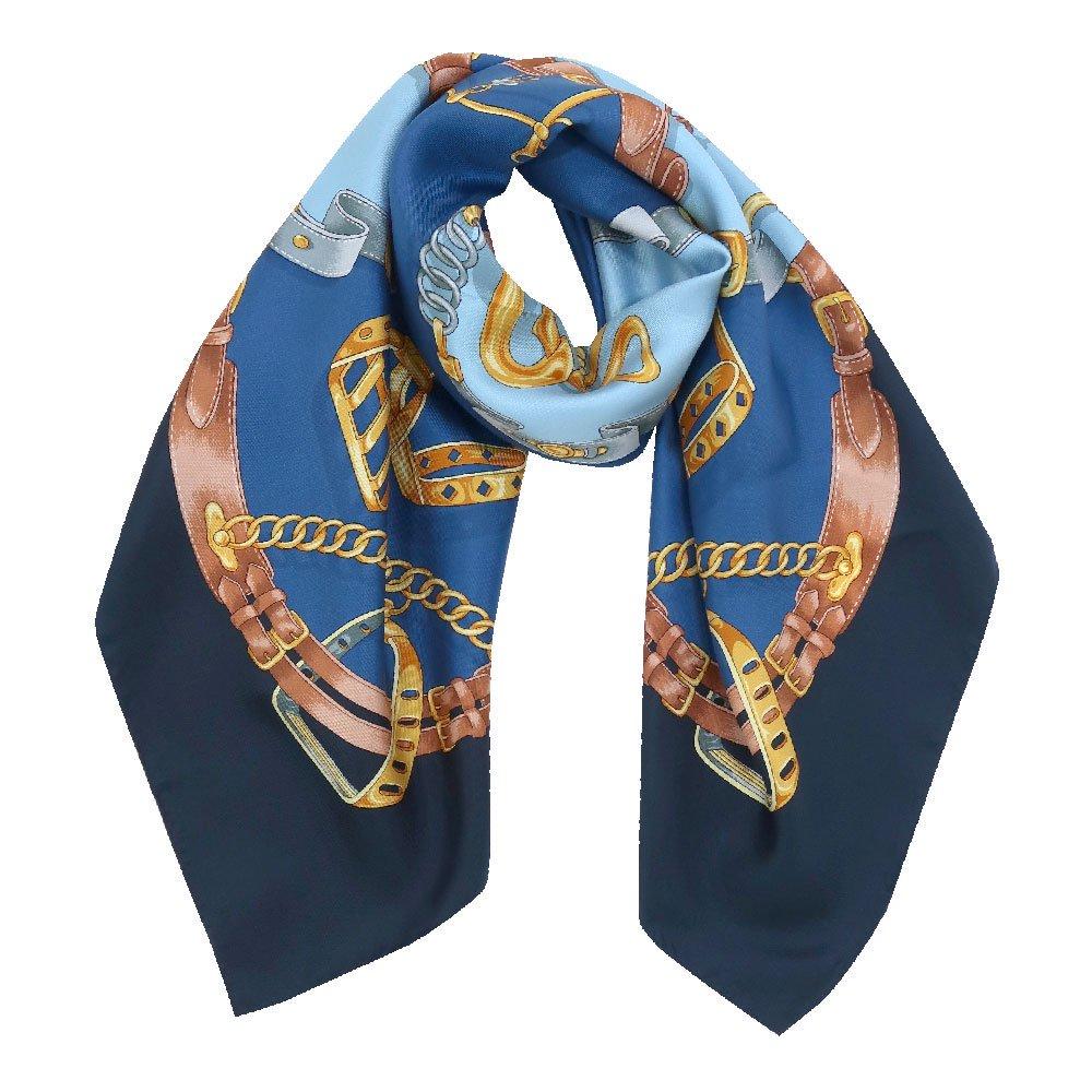 ビットベルト円構図(CE0-413) Marcaオリジナル 大判  シルクツイル スカーフ