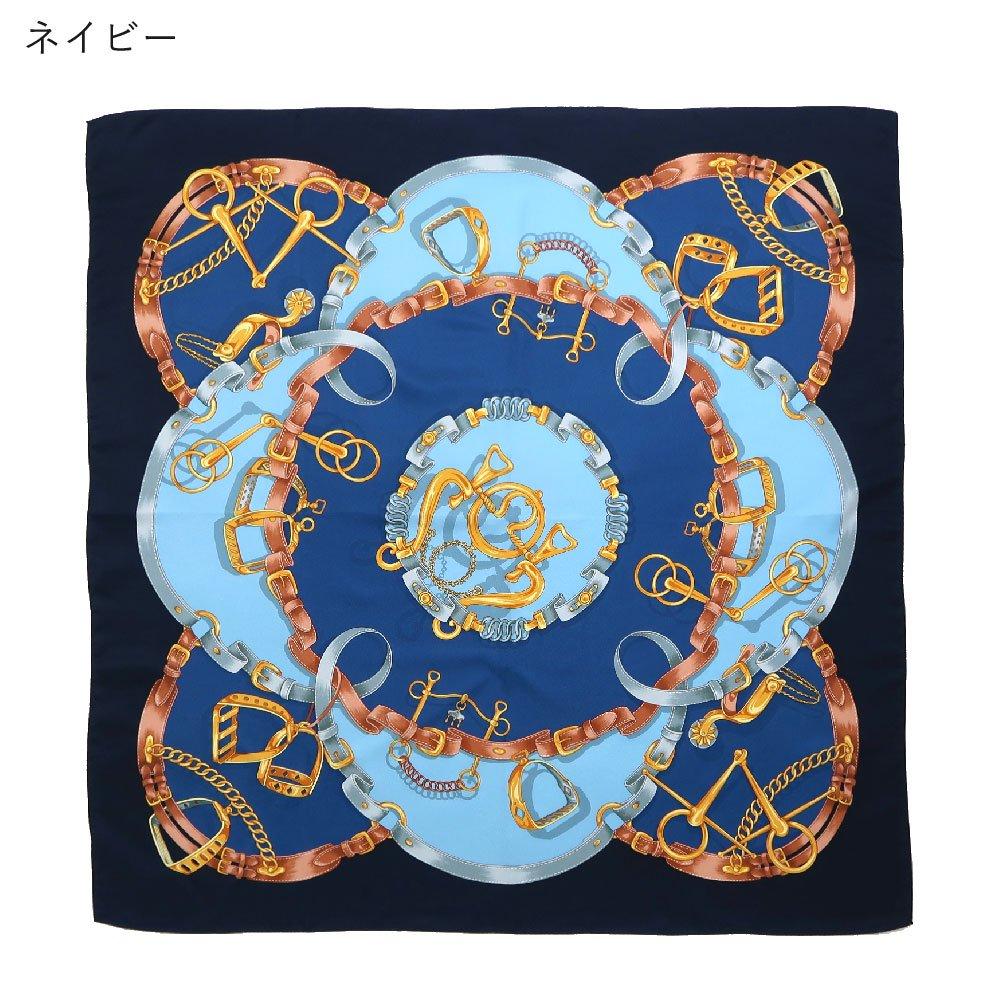 ビットベルト円構図(CE0-413) Marcaオリジナル 大判  シルクツイル スカーフの画像1