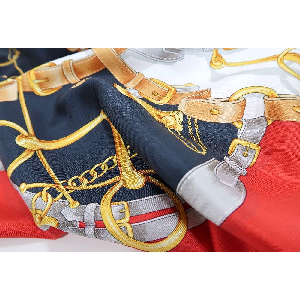 ビットベルト円構図(CE0-413) Marcaオリジナル 大判  シルクツイル スカーフの画像10