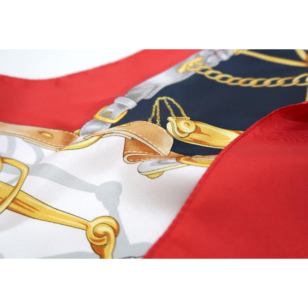 ビットベルト円構図(CE0-413) Marcaオリジナル 大判  シルクツイル スカーフの画像12