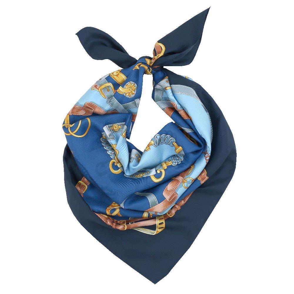 ビットベルト円構図(CE0-413) Marcaオリジナル 大判  シルクツイル スカーフの画像2