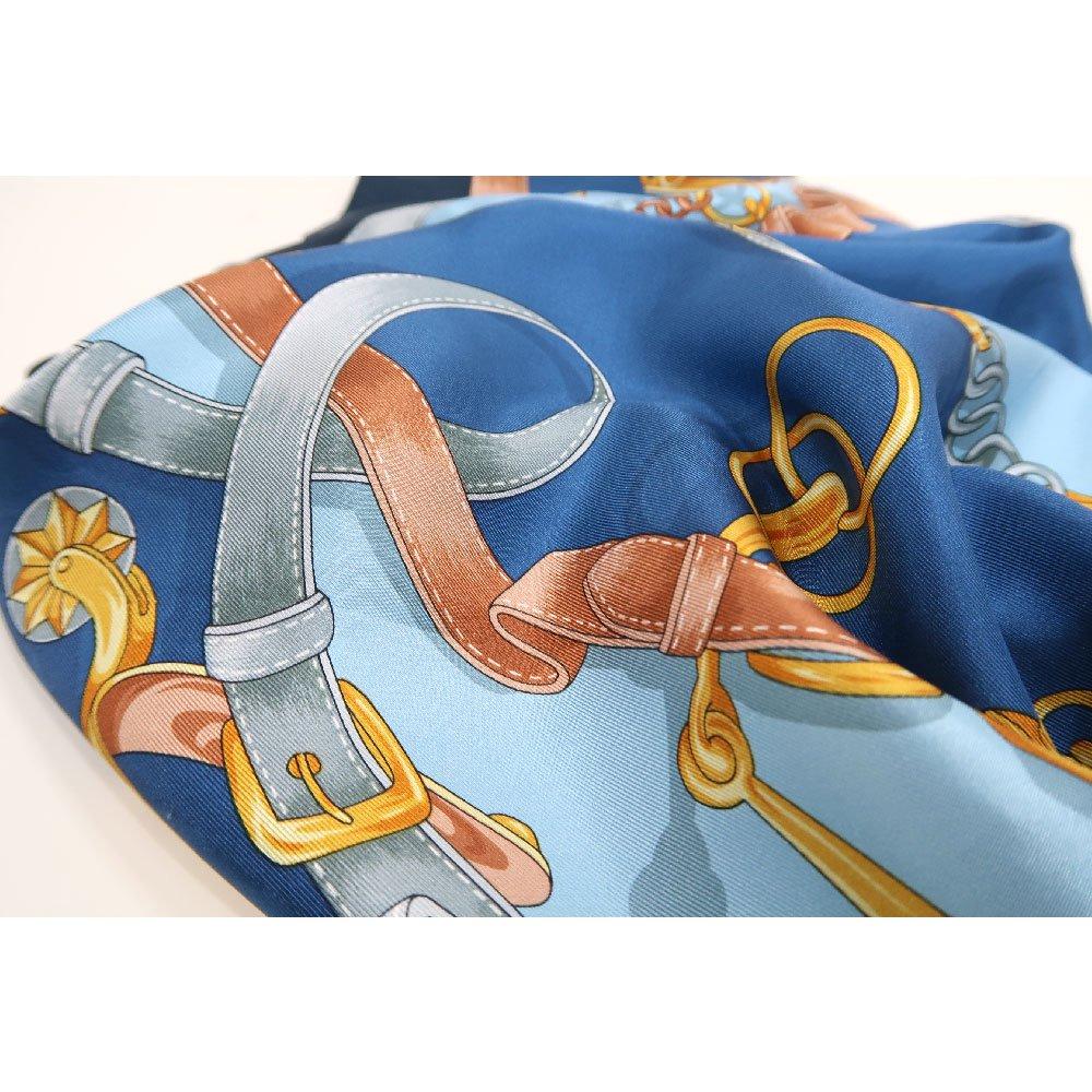 ビットベルト円構図(CE0-413) Marcaオリジナル 大判  シルクツイル スカーフの画像4
