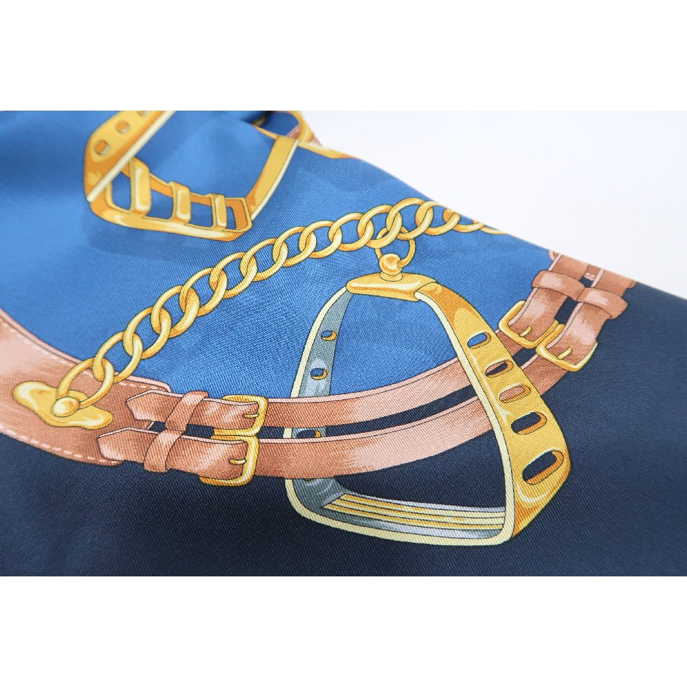 ビットベルト円構図(CE0-413) Marcaオリジナル 大判  シルクツイル スカーフの画像5