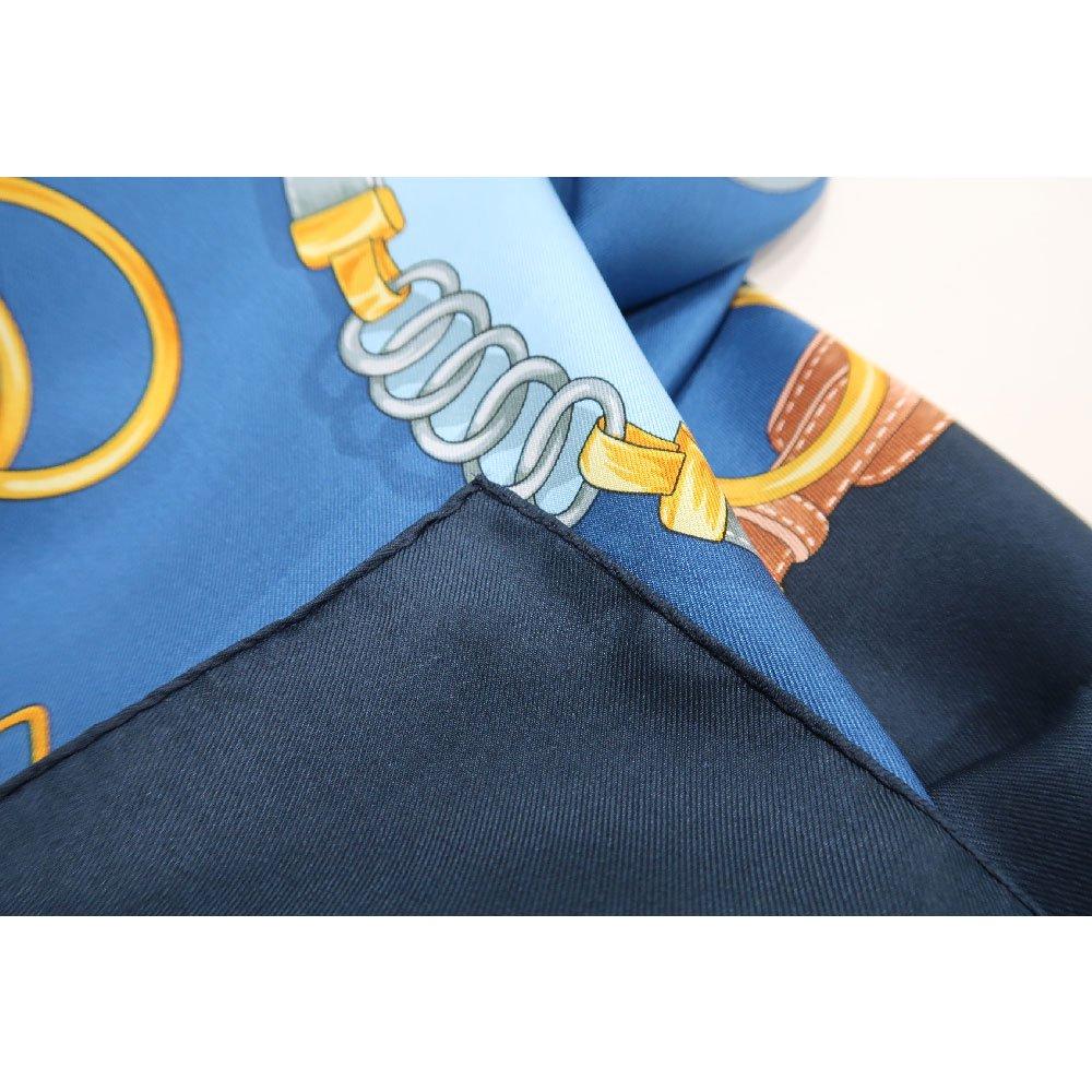 ビットベルト円構図(CE0-413) Marcaオリジナル 大判  シルクツイル スカーフの画像6