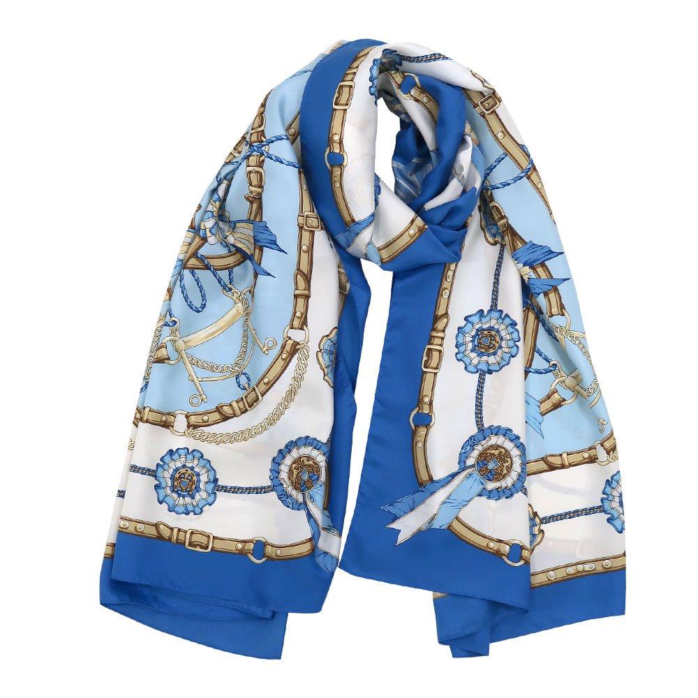 勲章とリボン ロング(CM4-082L) Marcaオリジナル 大判 シルクツイル スカーフ