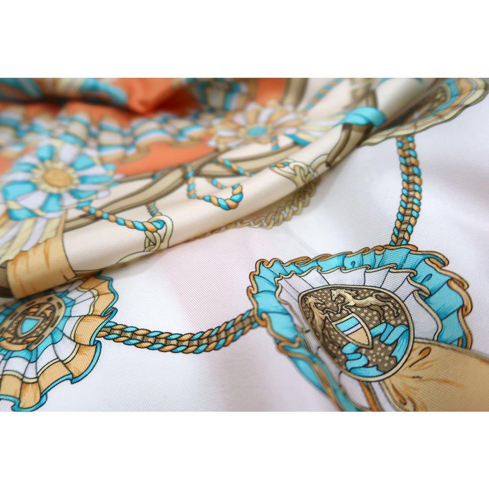 勲章とリボン ロング(CM4-082L) Marcaオリジナル 大判 シルクツイル スカーフの画像10