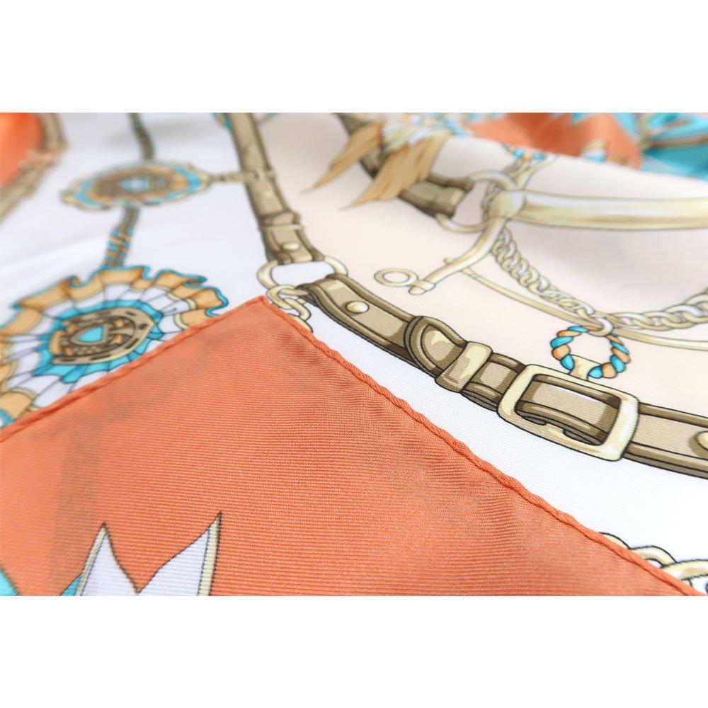 勲章とリボン ロング(CM4-082L) Marcaオリジナル 大判 シルクツイル スカーフの画像11