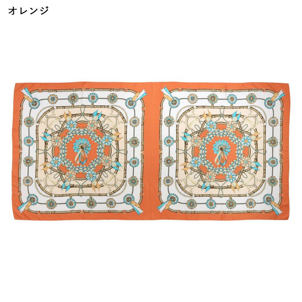勲章とリボン ロング(CM4-082L) Marcaオリジナル 大判 シルクツイル スカーフの画像12