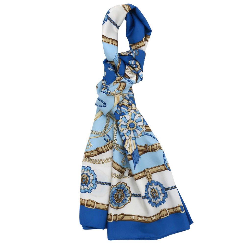 勲章とリボン ロング(CM4-082L) Marcaオリジナル 大判 シルクツイル スカーフの画像2