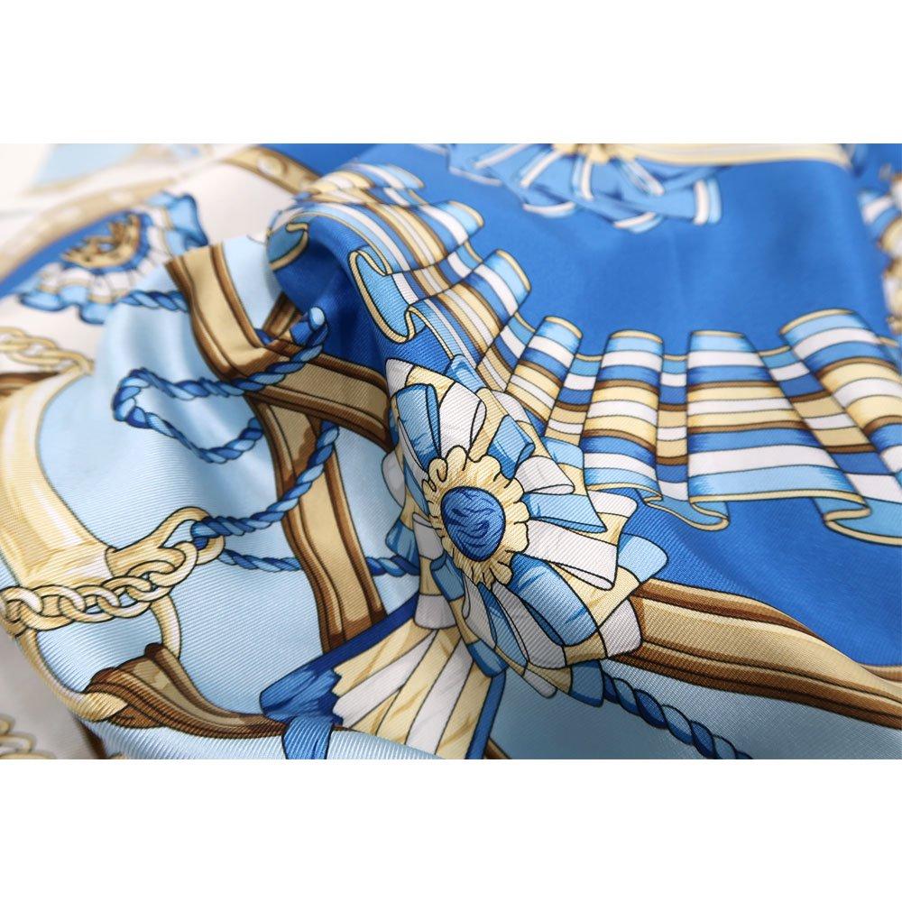 勲章とリボン ロング(CM4-082L) Marcaオリジナル 大判 シルクツイル スカーフの画像5