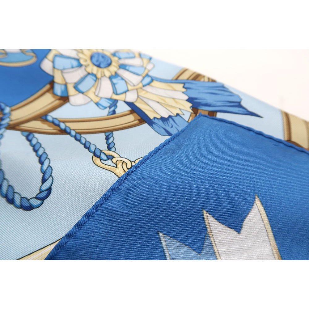 勲章とリボン ロング(CM4-082L) Marcaオリジナル 大判 シルクツイル スカーフの画像6